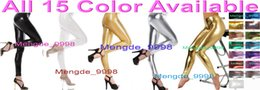 shiny zentai dressing Australia - Sexy Unisex Pants New 15 Color Shiny Lycra Metallic Trousers Pants Sexy Trousers Pants Unisex Halloween Fancy Dress Cosplay Suit M254