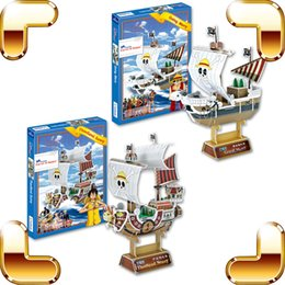 $enCountryForm.capitalKeyWord Canada - New Arrival Gift One Piece 3D Model Cartoon Anime Ship Puzzle Thousand Sunny & Going Merry DIY Model Boat Puzzle Collection Toy