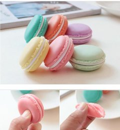 Discount macaron tools - Mini Cosmetic Jewelry Storage Boxes Containers Macaron Cute Candy Color Pill Case Charm Birthday Gift Valentine Chocolat