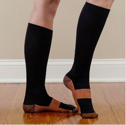Wholesale Unisex Anti Fatigue Compression Socks Foot Pain Relief Soft Miracle Copper Anti Fatigue Magic Socks With Retail Package KKA2089