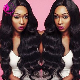 unprocessed full lace wigs prices UK - Lace Front Wig Natural color Body Wave Malaysian Virgin Human Hair Full Lace Wig Unprocessed Cheap Price For Selling