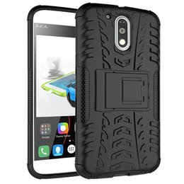 moto phone covers NZ - Hot Sale For Motorola Moto G4 Plus Phone Case 2in1 Dual Layer Kickstand Heavy Duty Armor Shockproof Hybrid Silicone Cover Case For Motorola