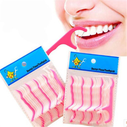 Discount dental care toothpick - Wholesale- Free Shipping 25pcs High Quality Toothpicks Oral Gum Teeth Clean Tool Care Thread Dental Plastic Tooth Picks