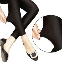 5d9e4cdd077fe lady push up slim leggings fashion new style hot shine legging girl black  leggings summer autumn large size fitness New