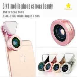 Flashlight glass lens online shopping - LQ in Clip on Glass Camera Lens HD X X Wide angle Lens X Macro lens with Rechargeable Flashlight with Retail Package