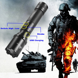 Self defenSe flaShlightS online shopping - AloneFire TK700 L2 usb rechargeable Search and rescue LED Flashlight Super Bright for Emergency and Self Defense