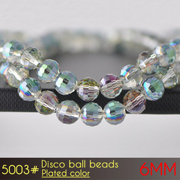 Perles De Pierres D'ongles Pas Cher-Perles pour la fabrication de bijoux Nail Art Stone Glass Disco Ball Beads6mm Plated Colors A5003 100pcs / set