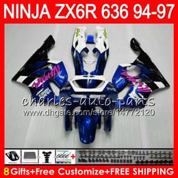 $enCountryForm.capitalKeyWord Australia - 8Gifts 23Colors For KAWASAKI NINJA ZX6R 94 95 96 97 600CC ZX-6R 33NO75 ZX636 blue black ZX 636 ZX 6R ZX600 1994 1995 1996 1997 Fairing kit
