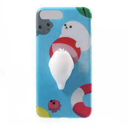 Gato 3D Squishy Phone Bag Case Capa Soft Squeeze Toys Capa Traseira para 6 s Plus Stress Aliviar Shell