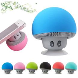 Portable Computer Speakers Canada - Fashion Mushroom Wireless Mini Bluetooth Speaker Portable Waterproof Stereo Bluetooth Speaker for Mobile Phone iPhone Xiaomi Computer