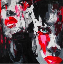 $enCountryForm.capitalKeyWord Australia - Palette knife portrait woman's face,High Quality genuine Hand Painted Wall Decor Pop Art Oil Painting On Quality Thick Canvas Multi Sizes me