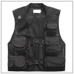 Vest photography online shopping - New Breathy Outdoor Camouflage Fly Fishing Vest Life Jacket Quick Dry Mesh Fishing Vest M L XL XXL XXXL Photography Vest Fishing Tackle