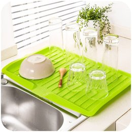 Kitchen Sink Filters Canada - Vanzlife Companion dishes sink drain and plastic filter plate storage rack kitchen shelving rack Drain board