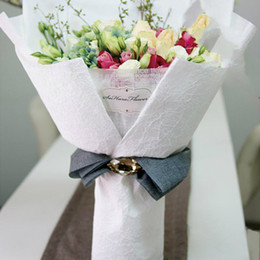 Flower packaging wrap paper canada best selling flower packaging diy korean stone pattern flower packaging colored paper hand folded bouquet gift florist supplies wrapping paper 10pcs lot mightylinksfo