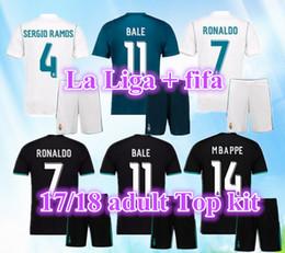 Ronaldo Grey Jersey Canada - 2018 Real madrid soccer Jersey kits 17 18 RONALDO MBAPPE Home away 3rd white away black JAMES BALE RAMOS ISCO KROOS MODRIC football shirts