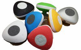Cheap Waterproof Speakers NZ - Cheap Portable Waterproof Wireless Bluetooth mini Speaker Suction IPX4 speakers Shower Car Handsfree Receive Call Voice prompts VS A9