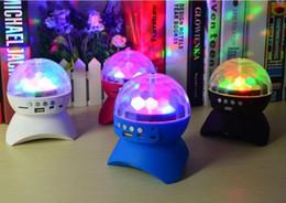 Magic Crystal Balls Canada - Disco Stage Crystal Ball Speaker Digital LED RGB Crystal Magic Ball Bluetooth Speakers Effect Light bluetooth speaker