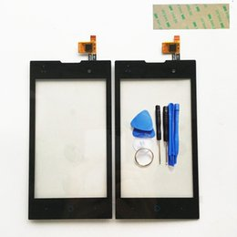 Zte Touch Panels Canada - Wholesale- 4.0 inch Touch Screen Digitizer For ZTE Kis 2 Max V815 V815W Front Glass Sensor Touch Panel Free Shipping