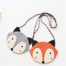 Discount cute fox wallet - 19*14 cm Kids Purses Fashion Cartoon Fox Wallet 2017 New Girl Cute Fox Bag Fox Purse Handbag Wallet