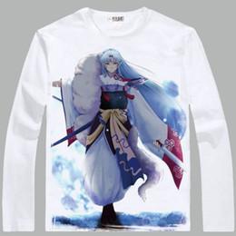 white shirt unique stylish 2019 - Inuyasha T shirt Anti shrink material long sleeve Unique stylish tees Cartoon clothing Men cotton Tshirt