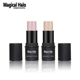 Barato Clareamento De Vara-Atacado-1pc Magical Halo 2 Cor 3d Face Bronzer Maquiagem Shimmer Stick Contorno Brighten Whiten Cor da pele Gold / Pink Highlighter Stick