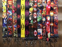 $enCountryForm.capitalKeyWord Canada - New 100pcs Avengers Hero batman Superman Mix Design Lanyards For ID Badge Mobile Phone Key Chain