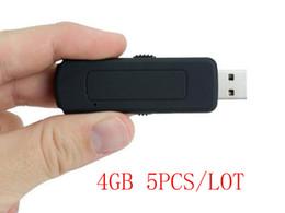 5 шт./лот UR09 4 ГБ USB диск голосовой активирован, аудио рекордер, U диск диктофон, U флэш-аудио рекордер