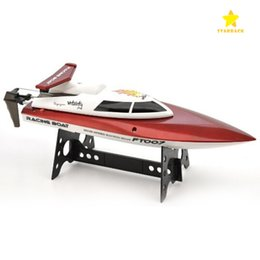Wholesale FT007 G CH High Speed Racing Flipped RC Boat Remote Control Speedboat Water Cooling with Speed KM H