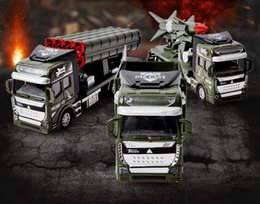 Military Alloy Model Canada - Alloy Car Model Toys, Military Rocket Truck, Fire Engine, Excavator, Express, Tank Truck, Kid' Birthday' Party Gifts, Collecting, Decoration
