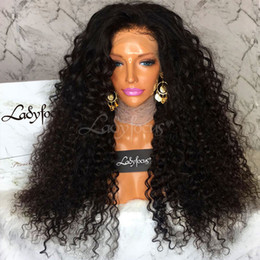 $enCountryForm.capitalKeyWord NZ - Malaysian Curly Full Lace Human Hair Wigs With Baby Hair 100% Brazilian Virgin Hair Kinky Curly Lace Front Wigs For Black Women
