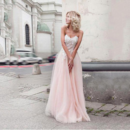 $enCountryForm.capitalKeyWord Australia - Charming Tulle & Organza Sweetheart Neckline A-line Prom Dresses With Beaded Appliques Pink Prom Party Dresses Custom Made