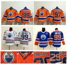 14cd7351b ... Youth Kids Edmonton Oilers 97 Connor McDavid Hockey Jerseys Cheap 99  Wayne Gretzky Boys Jerseys Authentic ...