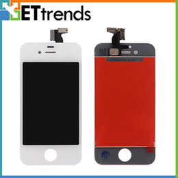Lcd Replacement For Iphone 4s NZ - For iPhone 4 4S LCD Display Grade AAA Quality Touch Digitizer Complete Screen with Frame Full Assembly Replacement Free Shipping AA0033