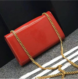 Black Cross Bags Canada - 2017 famous designer genuine leather shoulder bags high quality real leather small cross body bag for lady classic chain Black Free bag