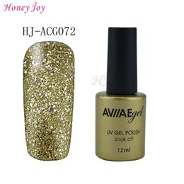 online shopping AVIIAE Bright Glitter CHAMPAGNE Color Gel Nail Polish Long Lasting Soak off LED UV Lamp Cure Cosmetic Make Up Gel Polish ML
