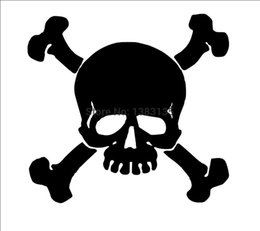 $enCountryForm.capitalKeyWord Australia - Wholesale 20pcs lot Home Decorations Automobile and Motorcycle with Products Vinyl Decal Car Glass window Stickers Jdm Skull And Crossbones
