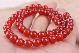 Wholesale Natural a red agate manufacturers selling loose bead crystal semi finished products round bead son of diy manual chain accessories