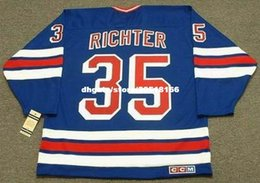 4006b04d0e0 ... usa custom throwback mens mike richter new york rangers 1996 ccm  vintage away cheap retro hockey