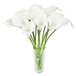 $enCountryForm.capitalKeyWord Canada - 300pcs lot Real Touch Artificial Flowers Wedding Decorative Flowers Calla Lily Fake Flowers Wedding Party Decoration Accessories