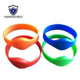 rfid access control chip UK - RFID Silicone Wristband 125Khz Read Only for adult size EM4100 Chip For access control x 10 pcs