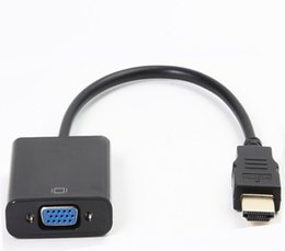 Wholesale HDMI to VGA Adapter Male To Famale Converter Adapter 1080P Digital to Analog Video Audio Cable For PC Laptop Tablet