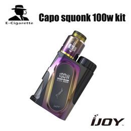 Chinese  pre-sale ijoy capo squonk 100w Electronic Cigarette kit CAPO Squonk TC Box Mod Side airflow 510 Vape Vaporizer E-Cigarettes kit manufacturers
