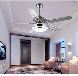 Discount Fashion Living Room Ceiling Fan Dining Room Living Room Ceiling Fan  Lights LED European Modern