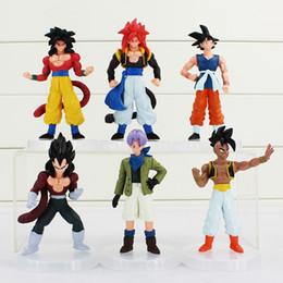 Free Goku Figures Australia - Cartoon Dragon Ball Z PVC Action Figure Goku Son Toys Figures Dolls 6Pcs set 12CM Free Shipping