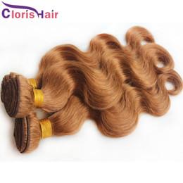 Discount auburn human hair wavy - Best #30 Body Wave Raw Indian Temple Hair Weave Bundles Grade 8A Wavy Medium Auburn Original Virgin Human Extensions Jul