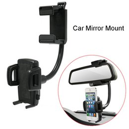 $enCountryForm.capitalKeyWord Australia - Adjustable Mirror Mount Car Holder Universal Car Rearview Phone Holder For Universal S8 Smartphone Rotation Stand GPS Holder with Retail Box