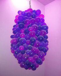 $enCountryForm.capitalKeyWord NZ - Affordable Murano Glass Ball Chandelier Purple and Blue AC Led Bulbs 120v 240v Popular Glass Lamp