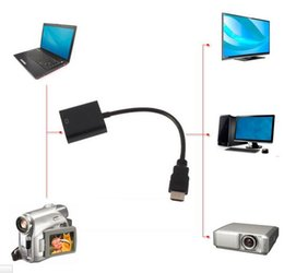 Usb Video Adapter Hdmi Vga Canada - HDMI Male to VGA RGB Female HDMI to VGA Video Converter adapter HDMI Cable 1080P HDTV Monitor for PC