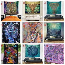21 design bohemian mandala beach tapestry 150130cm hippie throw yoga mat towel indian polyester beach shawl bath towel yya160 cheap polyester beach towels - Cheap Beach Towels