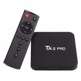 Discount android tv box quad core 2g - TX5 Pro 2G 16G Amlogic S905X Android6.0 2GB 16GB Quad Core 2.4G&5.8G WiFi BT 4.0 Smart Android Tv Box OTH043